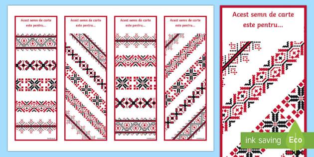 Motive tradiționale românești Semne de carte - România, ziua națională a României, ziua națională, 1 Decembrie, sărbătoare, materiale, mate