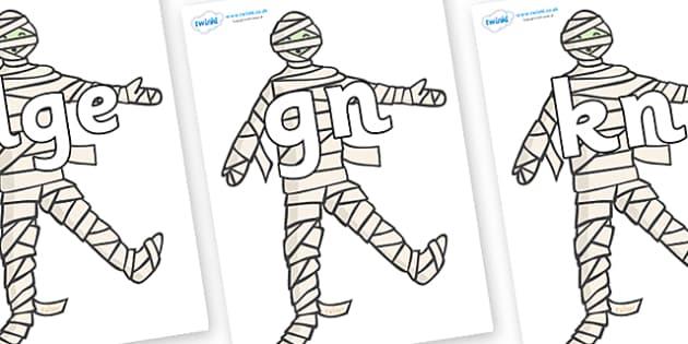 Silent Letters on Mummy (Plain) - Silent Letters, silent letter, letter blend, consonant, consonants, digraph, trigraph, A-Z letters, literacy, alphabet, letters, alternative sounds