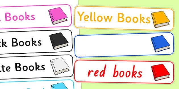 Editable Book Band Labels - australia, editable, book band, labels, book, band