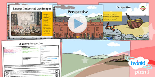 PlanIt - Art KS1 - LS Lowry Lesson 3: Perspective Lesson Pack