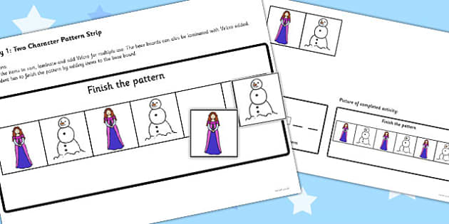 Workstation Pack: Winter Fairy Tale Pattern Activities