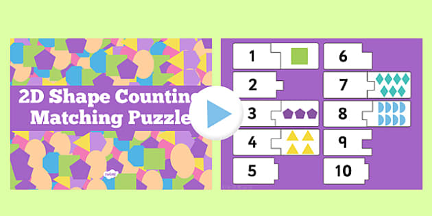 2D Shape Counting Puzzle Activity presentation - activities