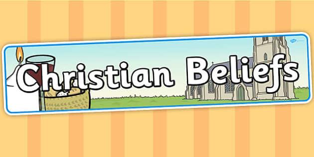 Christian Beliefs Display Banner - Christian, beliefs, display
