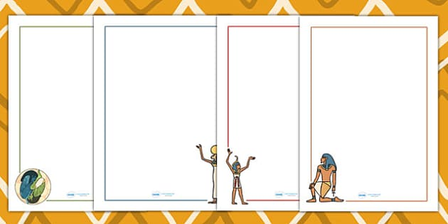 Ancient Egyptian Creation Story Page Borders - ancient egypt
