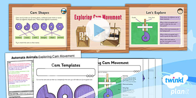 PlanIt - Design and Technology UKS2 - Automata Animals Lesson 3: Exploring Cam Movement Lesson Pack - follower, mechanical systems