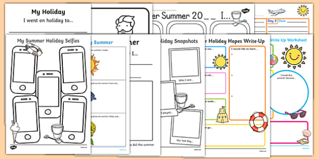 Top 10 Summer Holiday Write Up Activity Pack