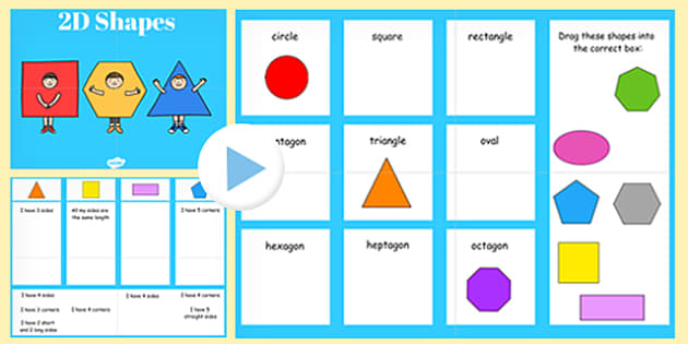Properties of 2D Shapes Sorting Activity SMART Notebook - smart