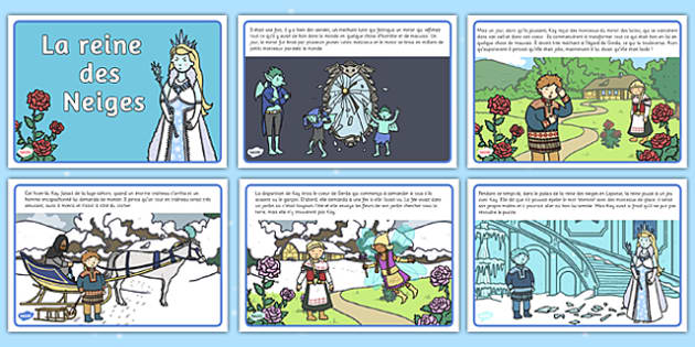 La reine des Neiges Story French - french, the snow queen, fairy tale, story