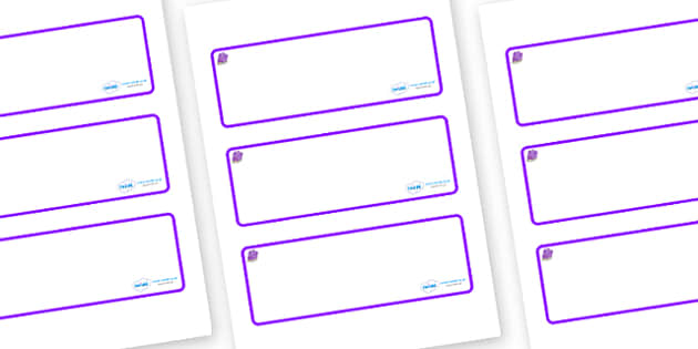 Amethyst Themed Editable Drawer-Peg-Name Labels (Blank) - Themed Classroom Label Templates, Resource Labels, Name Labels, Editable Labels, Drawer Labels, Coat Peg Labels, Peg Label, KS1 Labels, Foundation Labels, Foundation Stage Labels, Teaching Lab