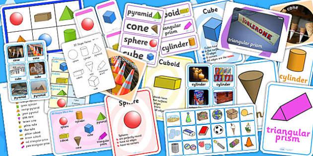 3D Shape Resource Pack - 3D, 3D shapes, shapes, numeracy, maths