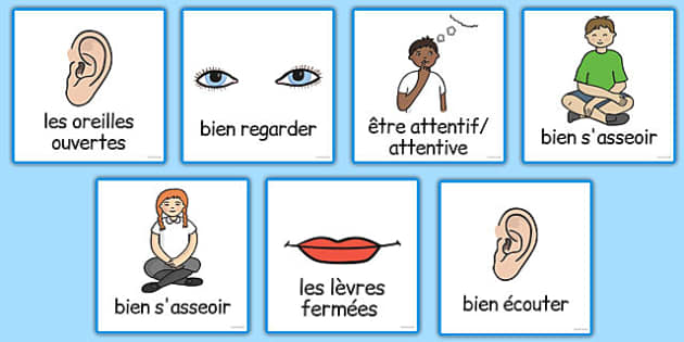Good Listening Cards French - french, good listening, cards, good, listening, communication