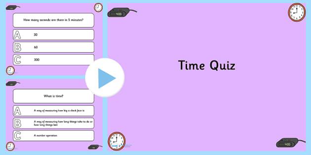 Time PowerPoint Quiz - time, powerpoint, quiz, powerpoint quiz