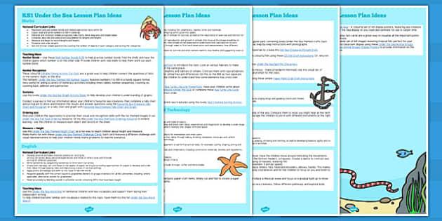 KS1 Under the Sea Lesson Ideas - under the sea, ks1, lesson ideas