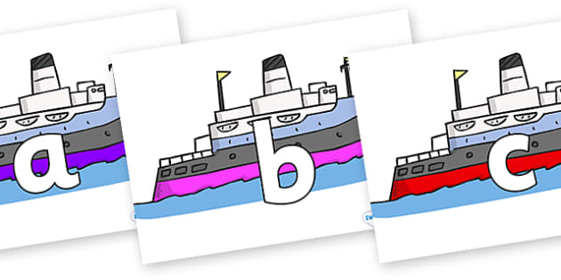 Phoneme Set on Boats - Phoneme set, phonemes, phoneme, Letters and Sounds, DfES, display, Phase 1, Phase 2, Phase 3, Phase 5, Foundation, Literacy