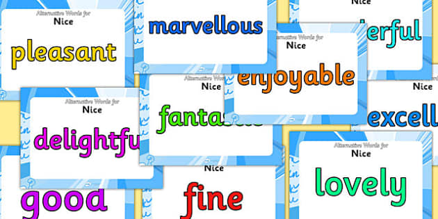 Alternative Words For Nice Display Posters - alternative words for nice, better words for fun, powerful words, synonyms, synonym posters, synonyms for nice