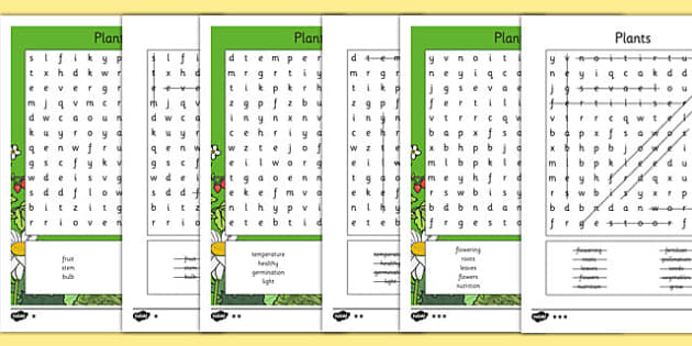Plants Word Search - plants, wordsearch, word search, ks2, science, activity