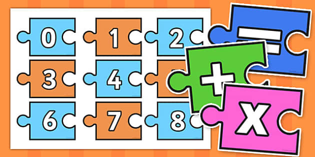 Calculation Jigsaw 0-20 - calculation, jigsaw, 0-20, puzzle, activity