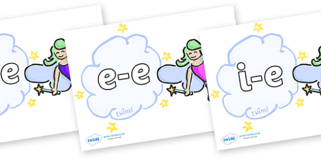 Modifying E Letters on Fairies - Modifying E, letters, modify, Phase 5, Phase five, alternative spellings for phonemes, DfES letters and Sounds