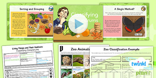 PlanIt - Science Year 6 - Living Things and Their Habitats Lesson 1: Classifying Conundrums Lesson Pack - classify, classification