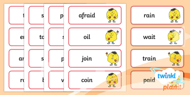 PlanIt English Additional Resources Year 1 Term 1B Spelling Word Cards - Spellings Year 1, Term 1B, word cards, spellings, y1, ks2, literacy, english, mr whoops, mr woops