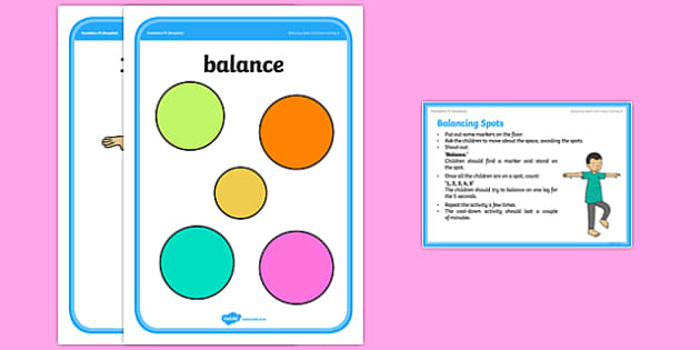 Foundation PE (Reception) Balancing Spots Cool-Down Activity Card - physical activity, foundation stage, physical development, games, dance, gymnastics