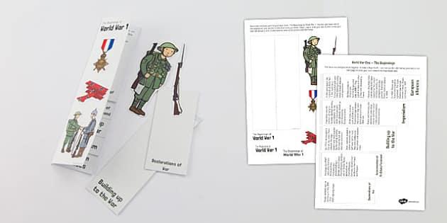 World War One - World War One The Beginnings Layer Book - ww1