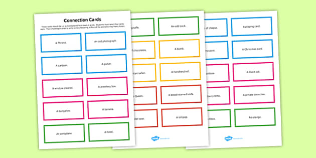 Creative Writing Cards - creative, writing, cards, creative writing, english