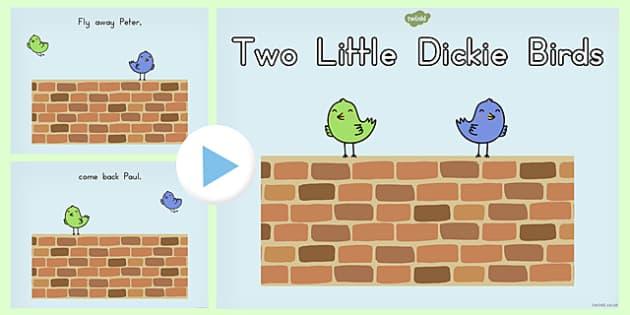 Two Little Dickie Birds PowerPoint - australia, birds, powerpoint
