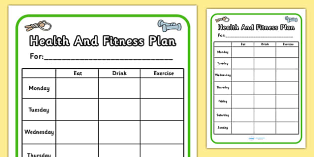 Gym Role Play Health And Fitness Plan - roleplay, props, sport