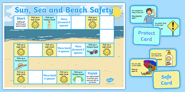 Sun, Sea and Beach Safety Board Game