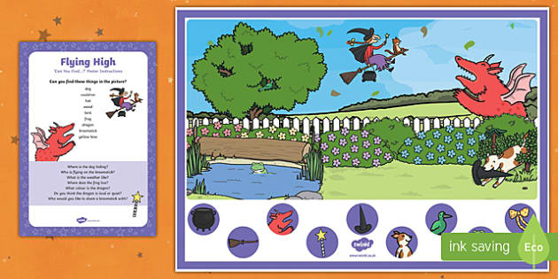 Flying High Can you Find...? Poster and Prompt Card Pack