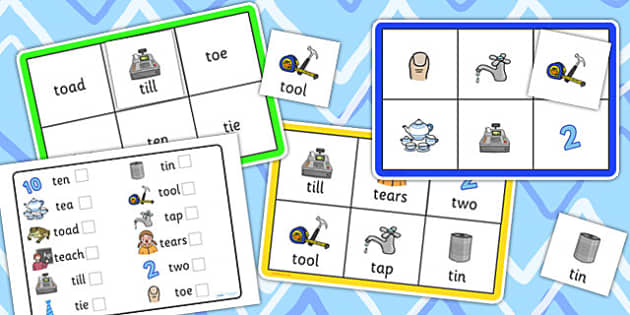 Initial t Sound Bingo and Lotto Game - sound, bingo, lotto, game