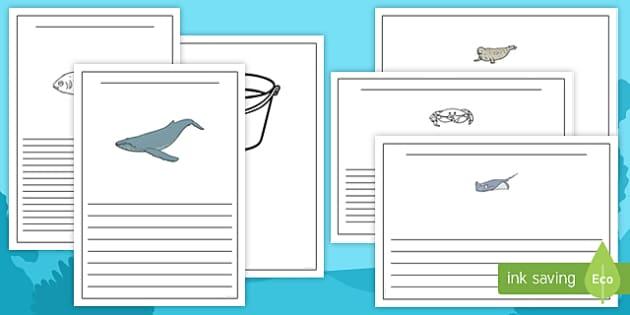 Sea Bucket Writing Frames - billy's bucket, sea bucket, writing frames, write, writing