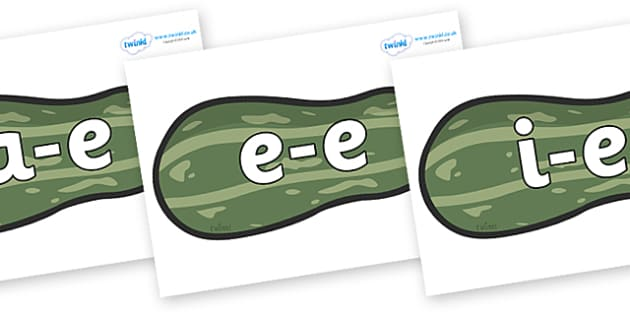 Modifying E Letters on Marrows - Modifying E, letters, modify, Phase 5, Phase five, alternative spellings for phonemes, DfES letters and Sounds