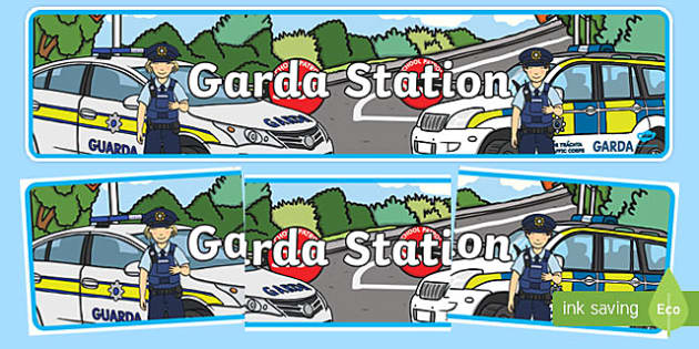 Garda Station Display Banner - garda, police force, ireland, republic of ireland, role play, police station, garda station, detective, role play area, display banner, display, banner