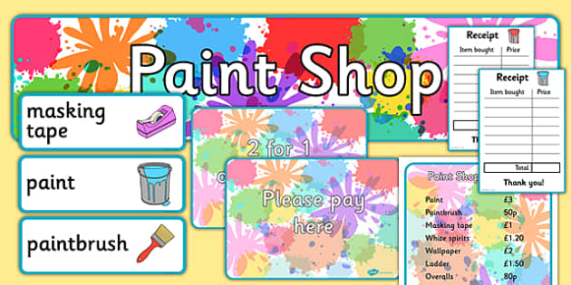 Paint Shop Role Play Pack - paint shop, role play, pack, paint, shop, role, play