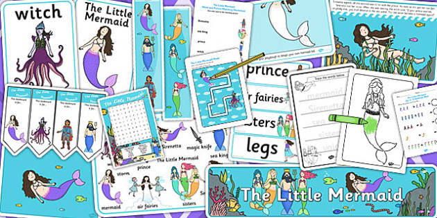 The Little Mermaid Resource Pack - stories, story books, pack