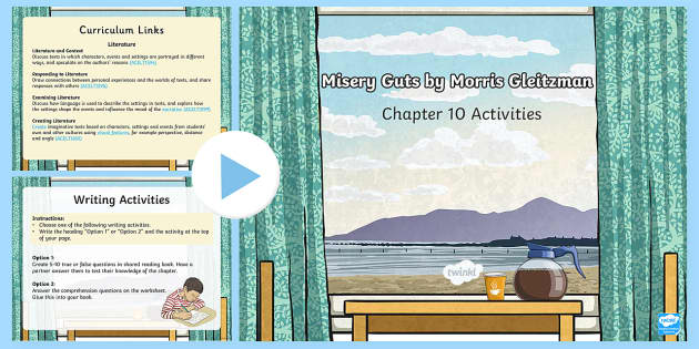 Chapter 10 Activities to Support Teaching on Misery Guts by Morris Gleitzman PowerPoint-Australia - Literacy, powerpoint, literature, australian curriculum, literature, novel study, misery guts by mor