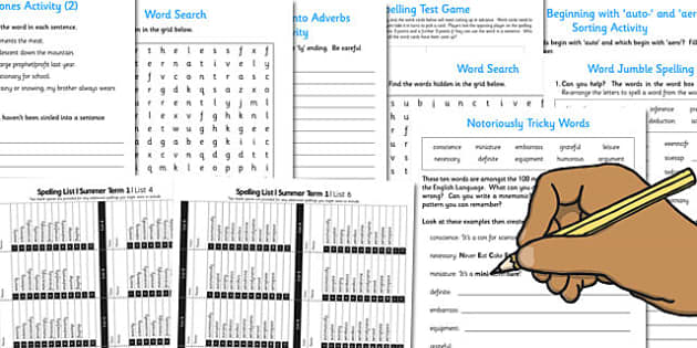 Year 6 Summer Term Spelling Lists and Resources Pack - spelling