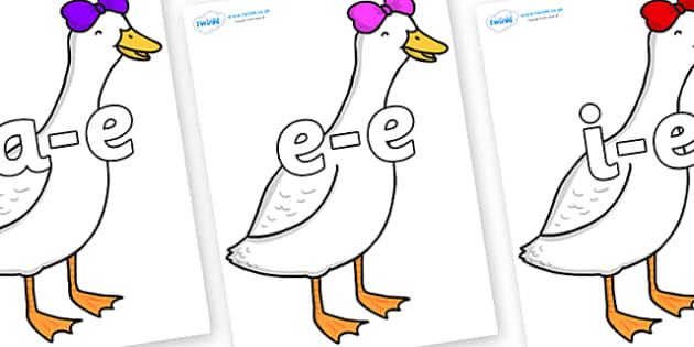 Modifying E Letters on Ducky Lucky - Modifying E, letters, modify, Phase 5, Phase five, alternative spellings for phonemes, DfES letters and Sounds