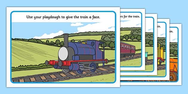 Talking Steam Train Themed Playdough Mats - thomas the tank engine, talking steam train, playdough mats