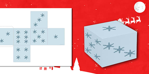 Christmas Snowflake Dice Net - Christmas, xmas, snowflake, dice, die, numeracy, counting, tree, advent, nativity, santa, father christmas, Jesus, tree, stocking, present, activity, cracker, angel, snowman, advent , bauble