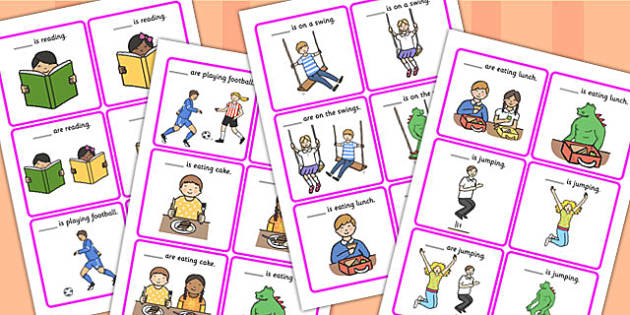 He, She, They And It Finish The Sentence Picture Description Cards