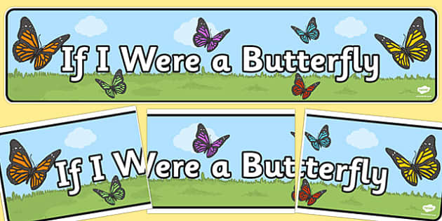 If I Were a Butterfly Display Banner - butterfly, display banner