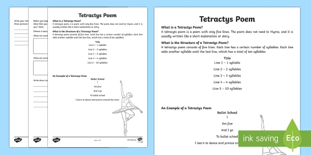 Tetractys Poem Writing Template-Australia - Literacy, Interpreting, analysing, evaluating, english, poetry, writing, poems, poetry, tetractys, g