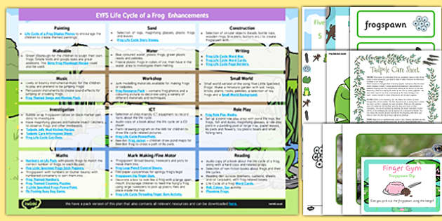 EYFS Life Cycle of a Frog Enhancement Ideas and Resources Pack