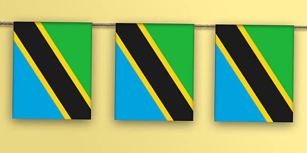 Tanzania Flag Bunting - nation, international, geography, culture, display, africa, olympics
