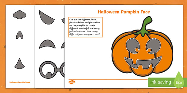 Halloween Pumpkin Face Activity