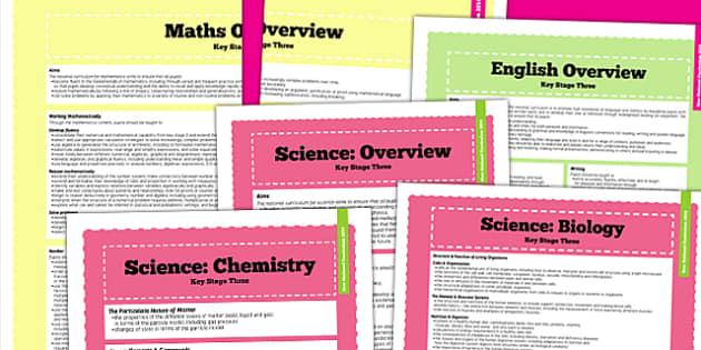 KS3 Curriculum Overview - new curriculum, key stage three, plan