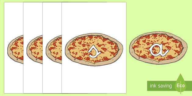 Tarjetas de fonemas: Pizzas - lecto, leer, primeros sonidos, comida
